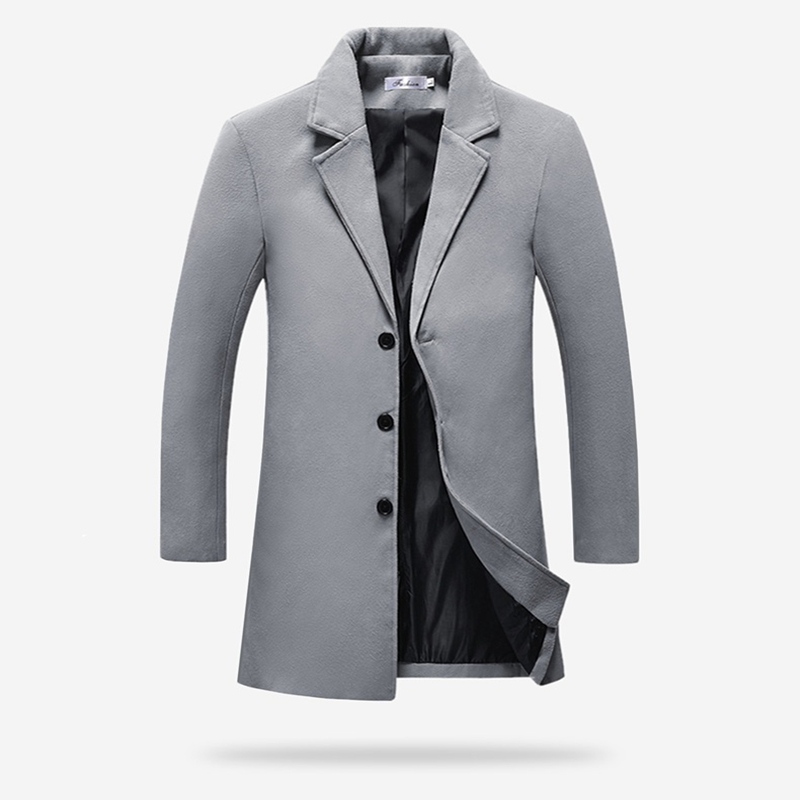 Slim Hommes gris Nouveaux bourgogne Noir Manteau 2018 kaki Fit Mens Hiver Tranchée Off marine Mode Bleu Casual Conception Manteaux Occasionnels bleu ardoisé AaxC5w