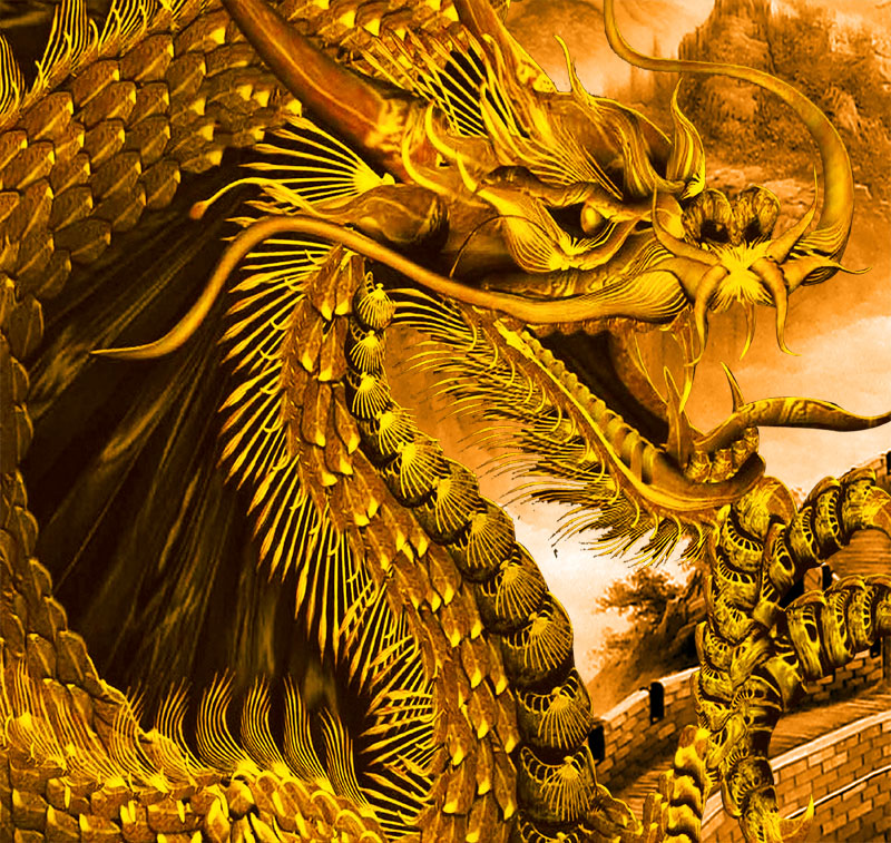 gold dragons wallpaper - photo #20