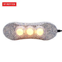 BYRIVER Electric Jade Stone 3 Ball Handheld Ceramic Projector Massager with Heating and Vibrating Massage Far Infrared Ray