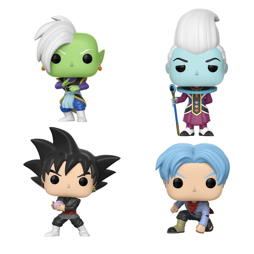 Funko pop Official Amine Dragon Ball Super - Whis, Zamasu, Future Trunks, Goku Black Vinyl Action Figure Collectible Model Toy nd pre sale new genuine funko pop dragonball z super saiyan goku3 75 inch vinyl dolls dragon ball vinyl figure free shipping