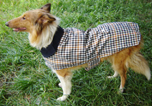 Pet clothes summer large Dog Trench cloak font b tartan b font pattern mantle clothes free