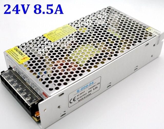 Высококачественный универсальный импульсный выключатель питания 24 В 8,5a 200 Вт, трансформатор, зарядное устройство 110 В 220 В переменного тока в постоянный ток, для светодиодных лент, светильник