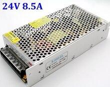 Di alta Qualità Universale 24V 8.5A 200W di Commutazione Interruttore di Alimentazione del Caricatore del Trasformatore 110v 220v AC a DC per la Luce di Striscia del LED