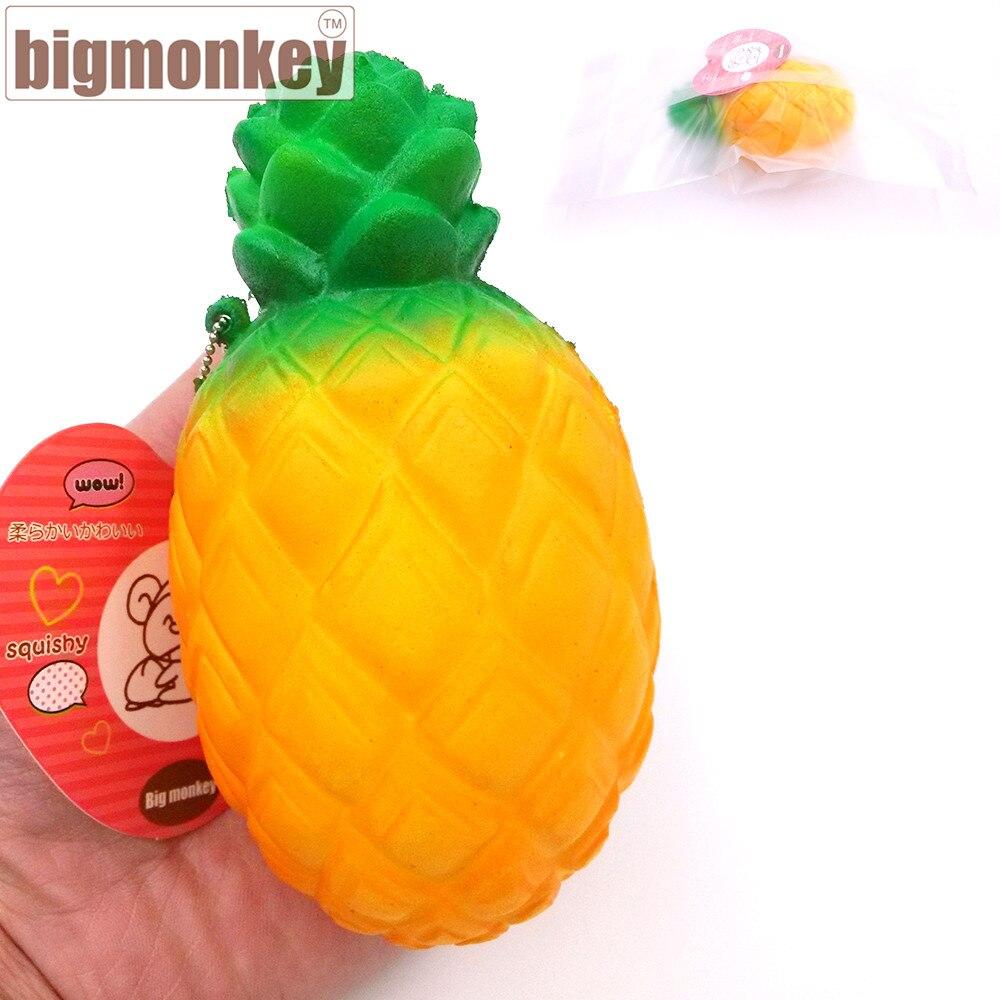 imágenes para Mono grande nueva venta caliente 12.5 cm jumbo kawaii orange piña lento aumento encanto blando squeeze toy