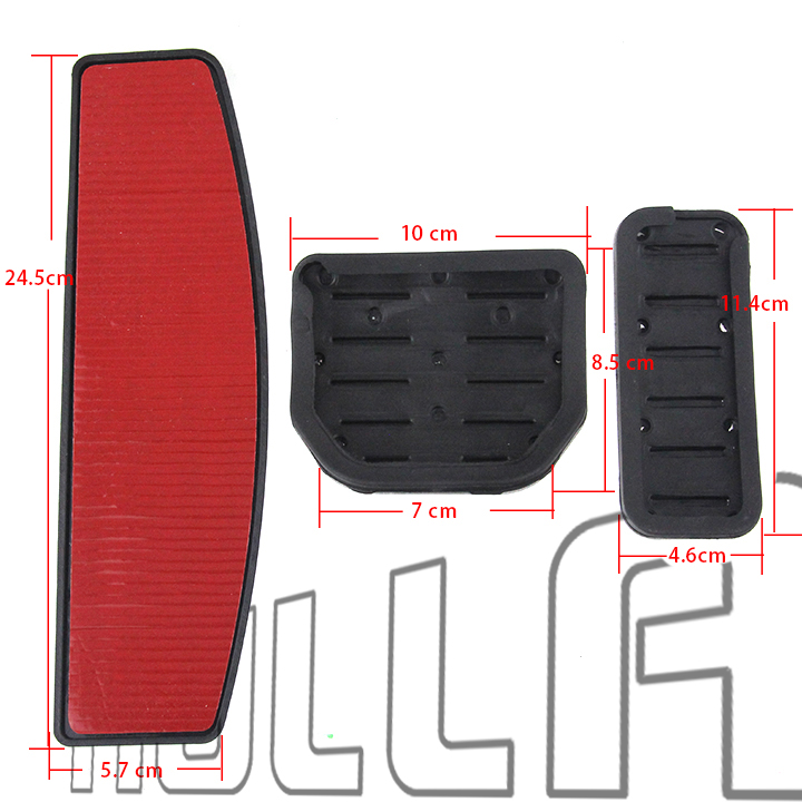 No Drill Fuel Gas Brake Pedal Pad Land Range Rover Sport LR3 LR4 DISCOVERY 3 4