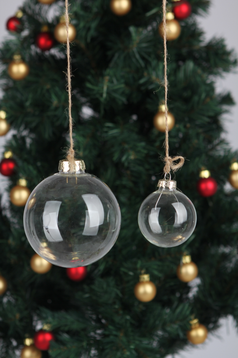 Christmas ornaments glass - 12 X Dia2cm Clear Glass Balls Xmas Christmas Ornaments Decoration Wedding Party Event Centrepieces Free Shipping