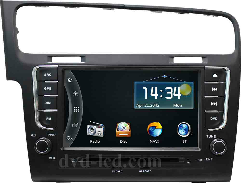 vw golf 7 autoradio car dvd gps player radio navigation. Black Bedroom Furniture Sets. Home Design Ideas