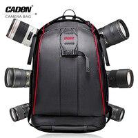 Caden Backpacks Big Black Camera Photo Shoulders Bags Polyester Men Women Digital Camera Case Backpack For
