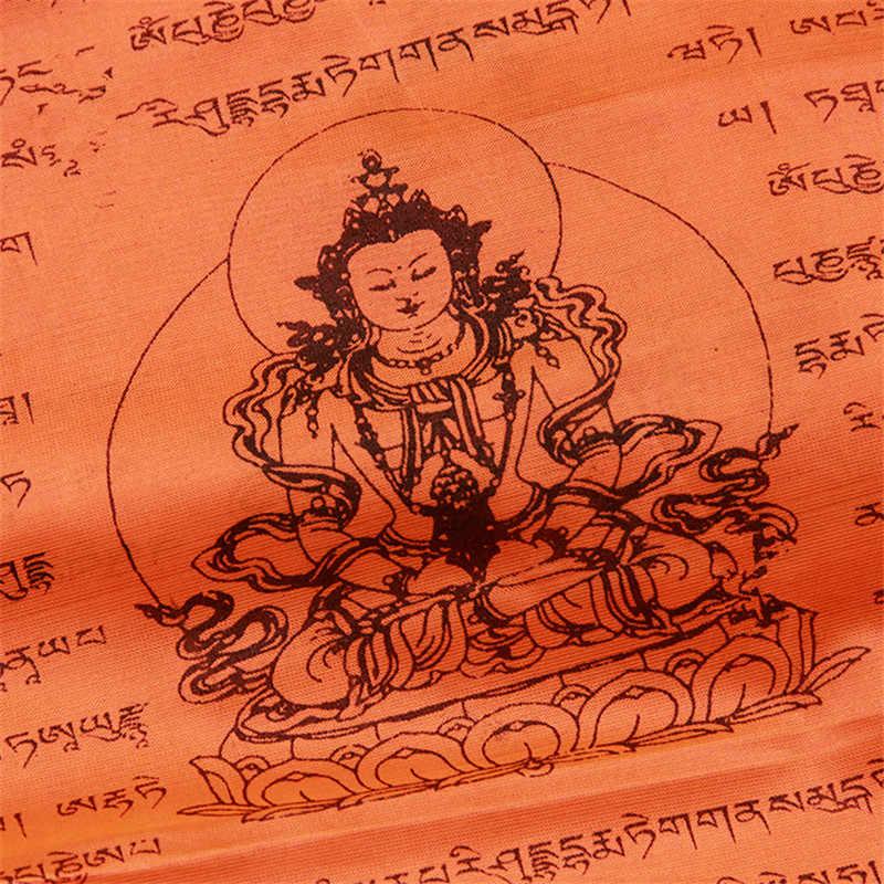 Forniture buddista Longevità Scritture Saggezza di Seta Bandiera Preghiera Estendendo La Vita Religiosa Bandiere 21 Bandiere/striscia di 5 metri Lungo