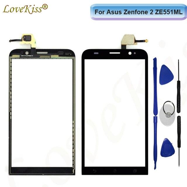 "Front Panel For Asus Zenfone 2 5.5"" ZE551ML Z00AD ZE550ML Z00BD Touch Screen Sensor LCD Display Digitizer Glass Lens Replacement"