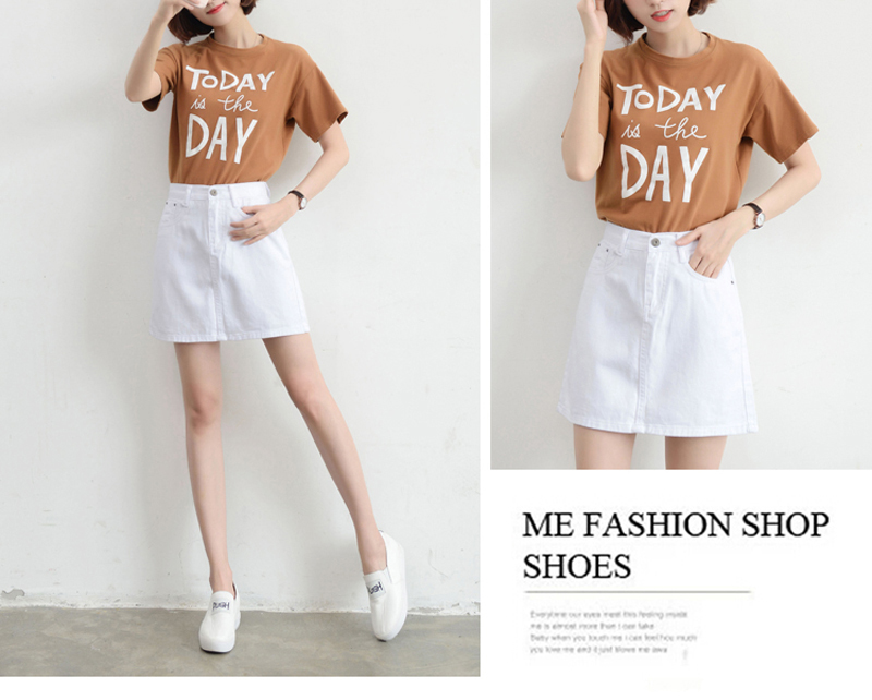 Lucyever Fashion Korean Summer Women Denim Skirt High Waist Black Mini Skirts Package Hip Blue Jeans Harajuku Plus Size Cotton 34