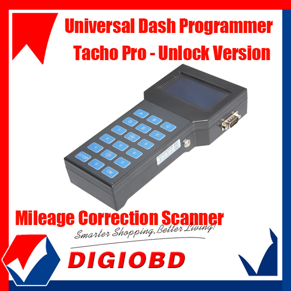 2013 unlock Universal Dash Programmer Tacho Pro 2008 Odometer Correction tool free shipping