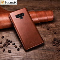 Note 9 Case For Samsung note 9 Vintage Genuine Leather Flip Phone Case For Samsung note 9 Full Edge Closed Flip Leather Cover