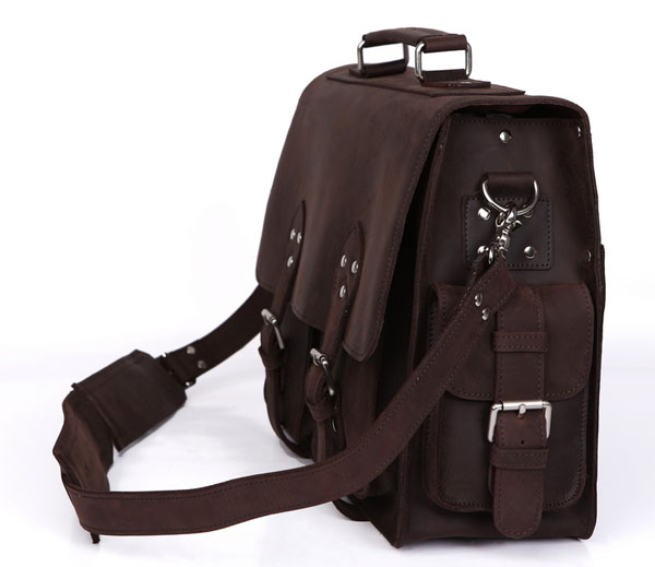 aktentaschen Business Echtem Brown Schultertasche Große Herrenmode Leder Dunkelbraun Jmd Handtasche Ausgezeichnete Laptop Kapazität 7145r Dark qw86Ea0