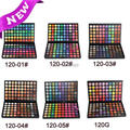 2017 New fashion Palette 120 Colors Pigment Glitter Eyeshadow EYE SHADOW palettes Matte Shimmer blush makeup Free Shipping