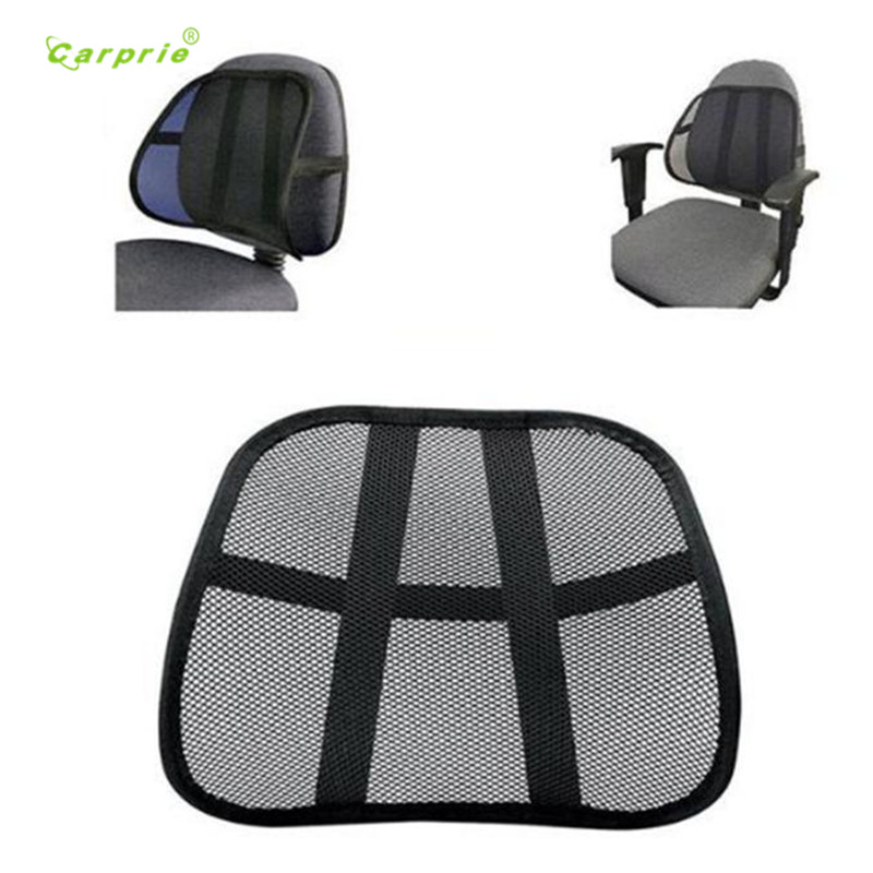 Auto Cool & Breathable Mesh Support - Lumbar Support Cushion Seat Back Muscle Car Home Office Chair Pain Relief Travel mar07 car seat office chair back cushion back lumbar massage black mesh ventilate cushion pad pain relief seat posture corrector