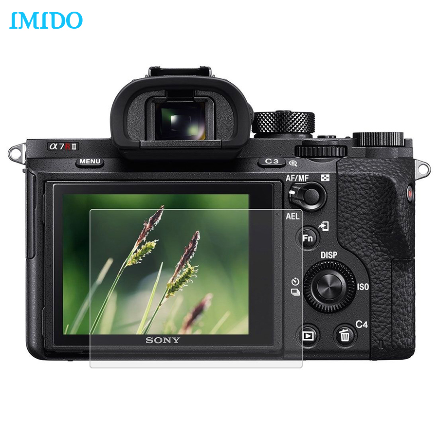 IMIDO Tempered Glass Screen Protector For Sony Camera LCD Screen Clear Protective Film Guard For Sony RX100/A7M2/A7R/A7R2/A6000