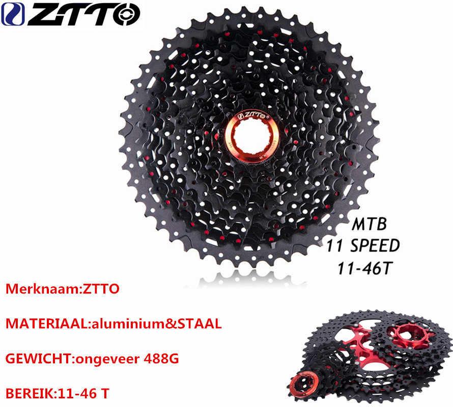 ZTTO Черный Красный MTB горных Fietsonderdelen 11 s 22 s 11 Скорость 11 46 т выбеге кассета voor Onderdelen XT SLX M7000 M8000