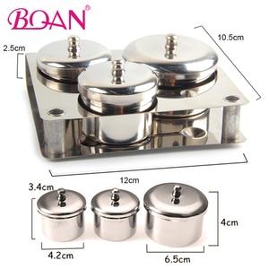 BQAN 3 шт. оборудование для нейл-арта мини стальное Украшение акриловые ногти кончики чашки Dappen Профессиональный Маникюрный Инструмент для жи...