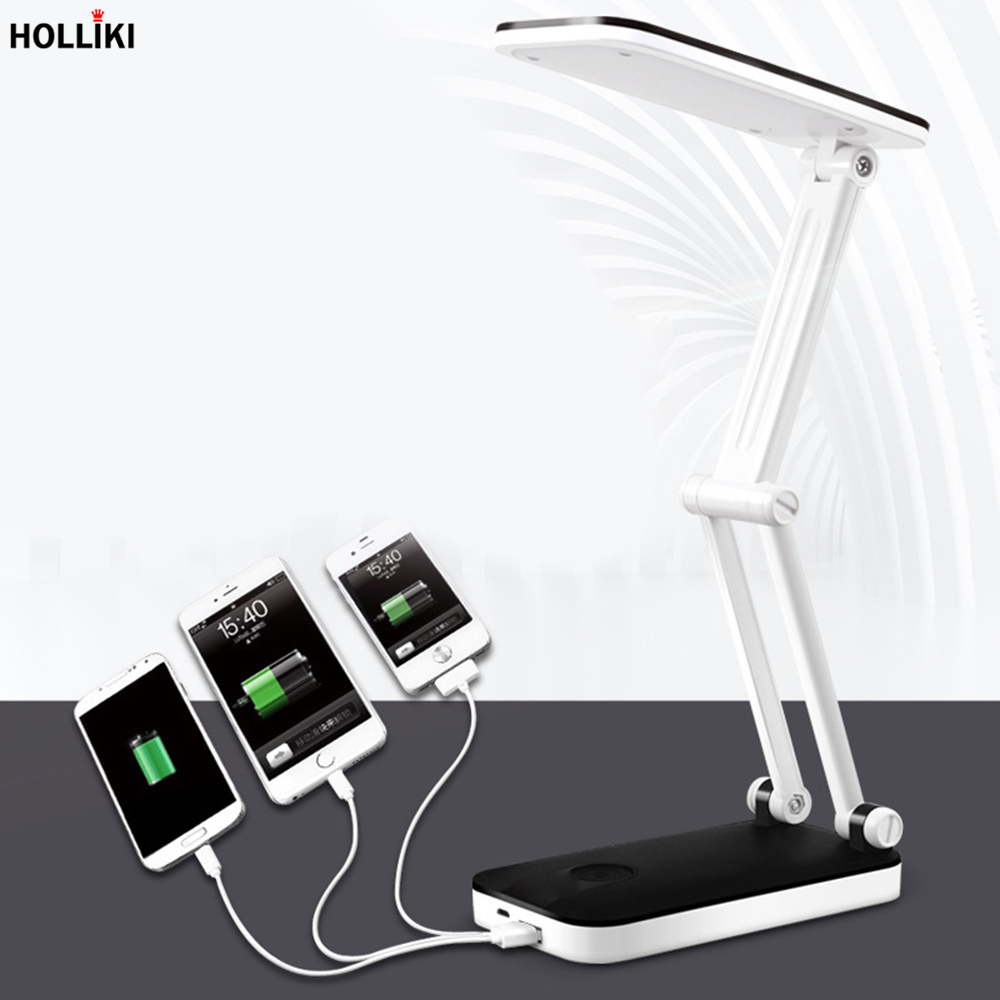 LED Foldable Power Bank Desk Table Lamp Adjustable Rechargeable Battery Powered Lamps for Office Student Study Luminaria De Mesa led geometry triangle desk table lamp minimalist detachable touch dimmer reading lamp for office student study luminaria de mesa