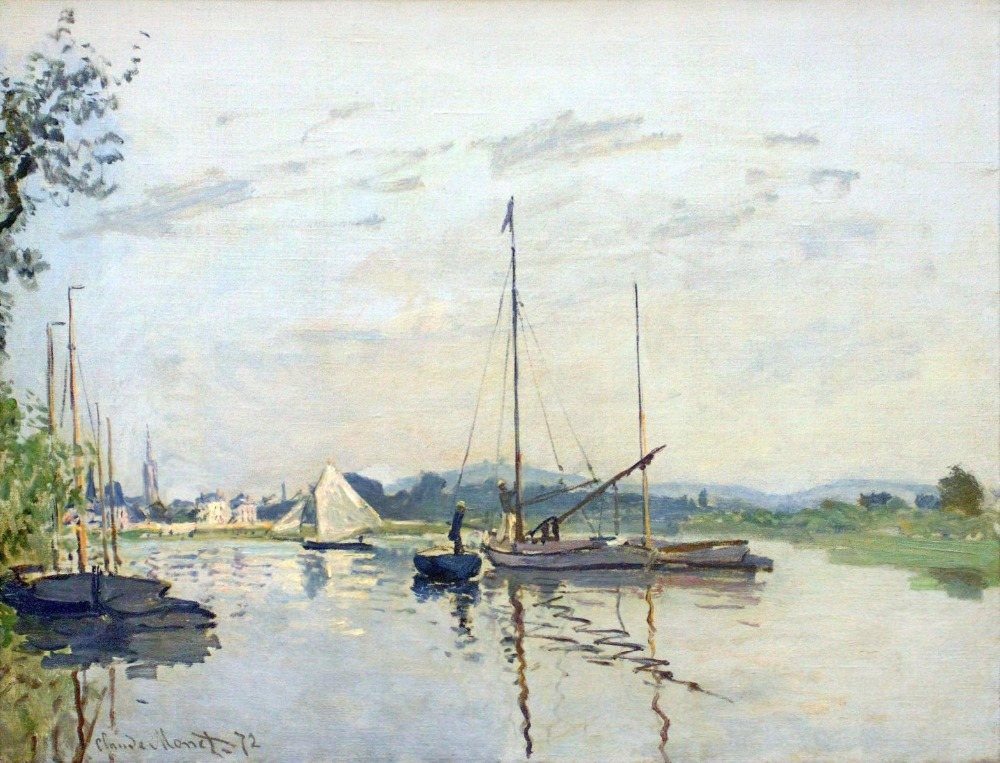 100% Handmade Claude Monet Oil Painting Reproduction on linen canvas,argenteuil(1),free DHL shipping,museum quality