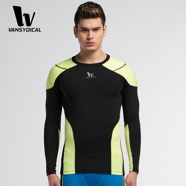 Sport Compression Shirt Tights Base Layer Spandex Fleece Running Long Sleeve