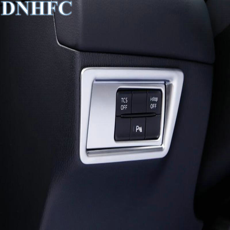 DNHFC headlights adjust the trim panel for Mazda CX5 CX-5 2017 2018 car-styling dnhfc interior door handle switch decorates sequins lhd for mazda cx 5 cx5 kf 2nd generation 2017 2018 car styling