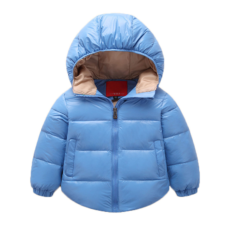 2017 winter kids candy color solid hooded girls outerwear&jacket boys hoodie jackets wadded down&parkas short snowsuits
