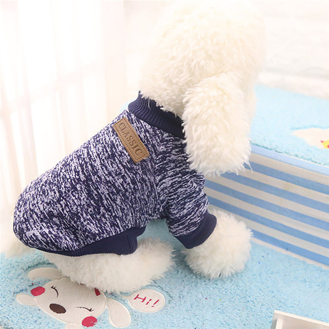 Classic Dog Clothes Warm Puppy Outfit Pet Jacket Coat Winter Dog Clothes Soft Sweater Clothing For Small Dogs Chihuahua noDC5 3