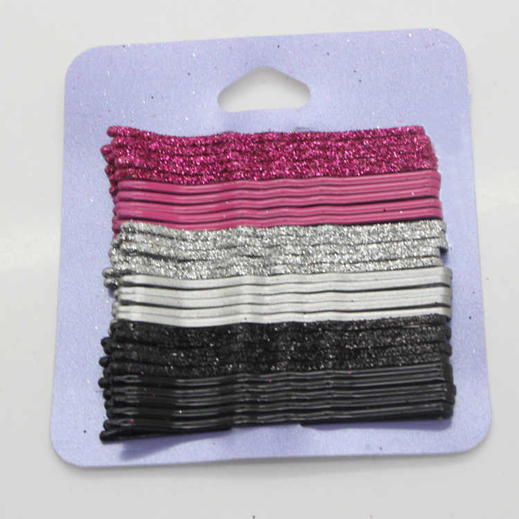 30pcs lot 6.5cm Hair Clips for Women red sliver and black Bobby Pins  Invisible 98aa712c611a