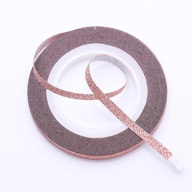 4Pcs Rose Gold Nail Striping Tape Line Sticker 1mm 2mm 3mm