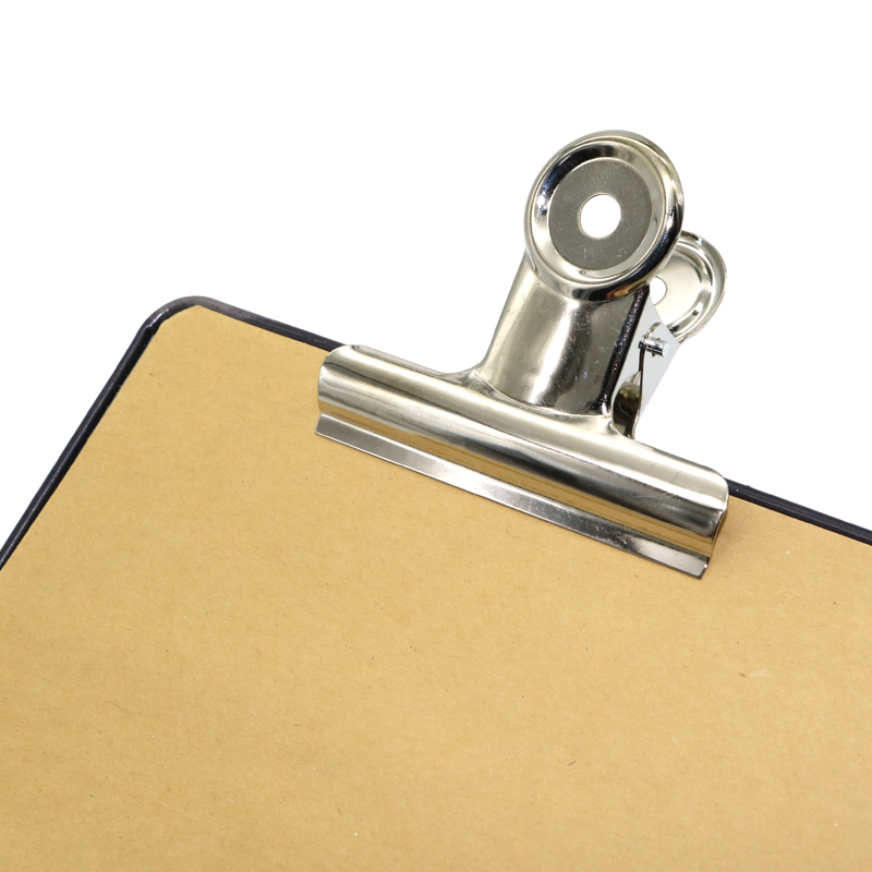 2 Pcs Round Metal Grip Clips Silver Bulldog Clip Stainless Steel Ticket Clip Stationery Bills Metal Clip Office Supplies JZ06