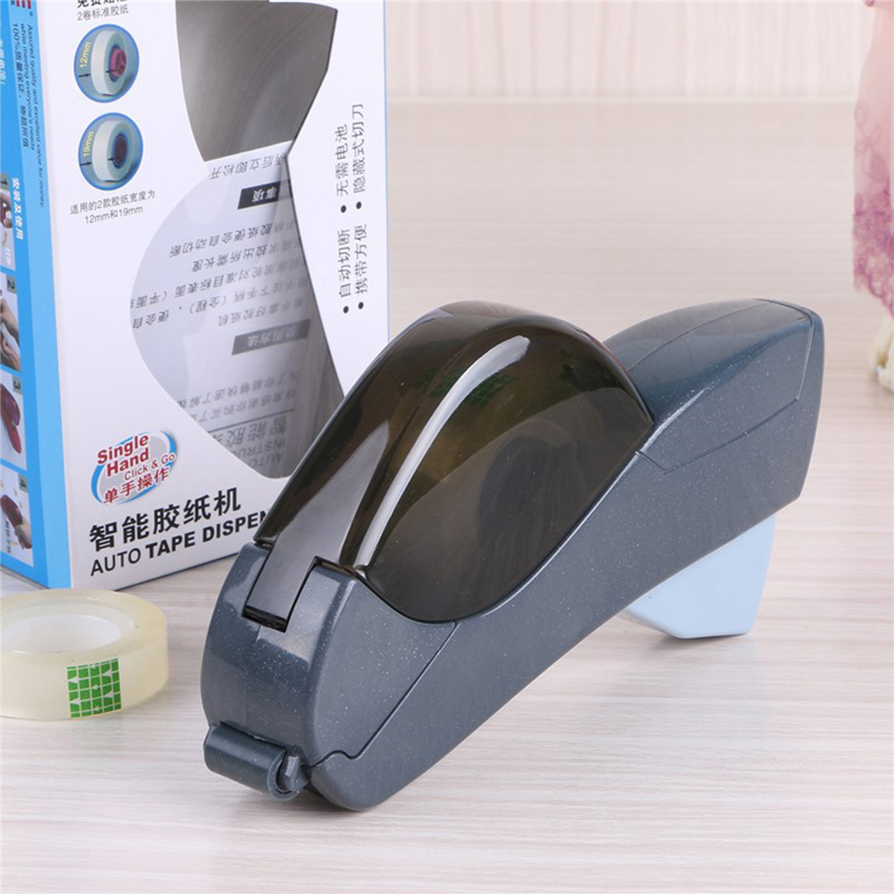 Auto Tape Dispenser 12/19mm One Press Hand-held Intelligent Automatic Tape Dispenser Cutter Adhesive Holder Packaging Cutter