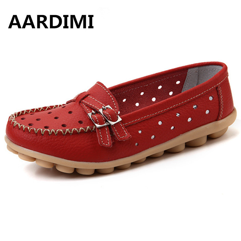 Women Real Leather Shoes Moccasins Mother Loafers Soft Leisure Flats Female Casual Flat Shoes Footwear Women Summer Sandals pink vietnam sandals flats female summer outdoor leisure shoes