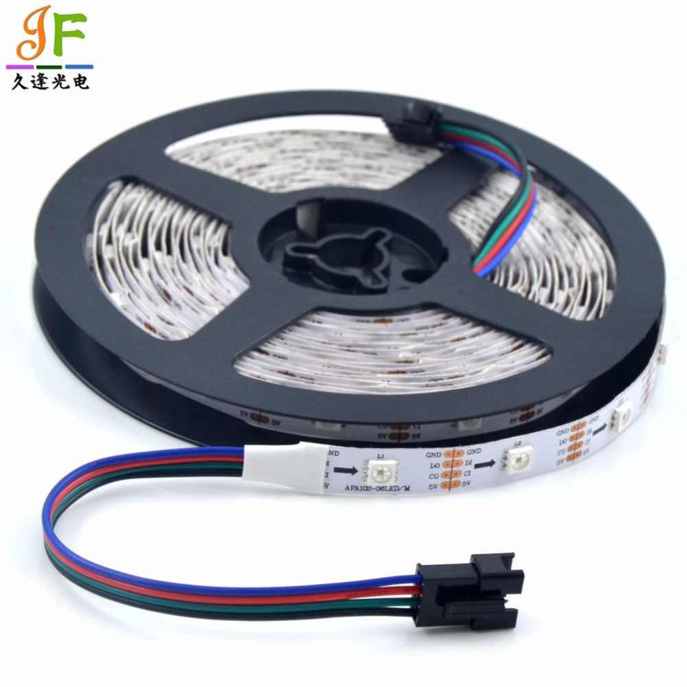 50m 10x5m Apa102 C 36leds M Addressable 5050 Rgb Full Color Flexible 3528 Led Light Strips Cable Wire Ws2801 Lpd8806 Strip Ip30 Non Waterproof Data And Clock Seperately In From Lights