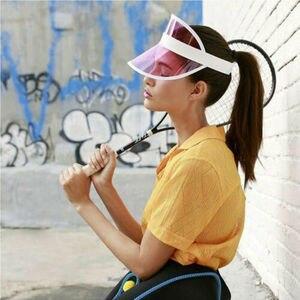 HIRIGIN Summer PVC Hat Sun Visor Party Casual Hat Clear Plastic Adult Sunscreen Cap hot