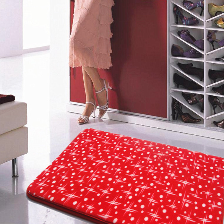 40 60cm Star Printed Bat Mats And Rugs Slip Resistant Water Absorbing Doormat Bathroom Carpet Bath Shower Mat Banyo Paspas In From Home Garden
