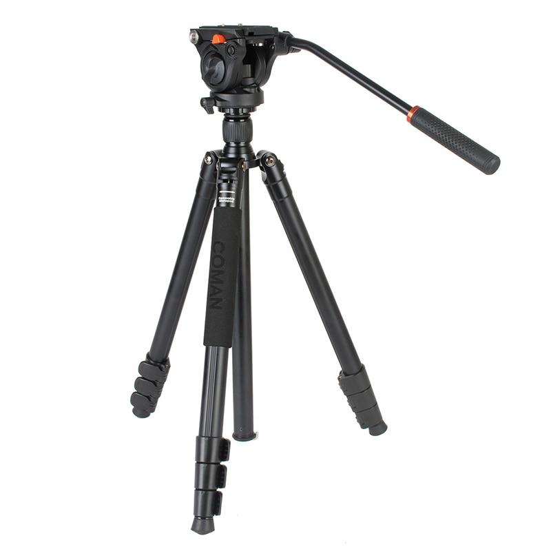 Ulanzi COMAN プロカメラビデオ一脚三脚ワット 360 流体ヘッド軽量アルミコンパクトニコンビデオカメラカメラ  グループ上の 家電製品 からの 三脚 の中 1