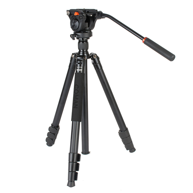 Ulanzi COMAN Professional Camera Video Monopod Tripod w 360 Fluid Head Lightweight Aluminum Compact for Nikon Camcorder Camera aluminium alloy professional camera tripod flexible dslr video monopod for photography with head suitable for 65mm bowl size