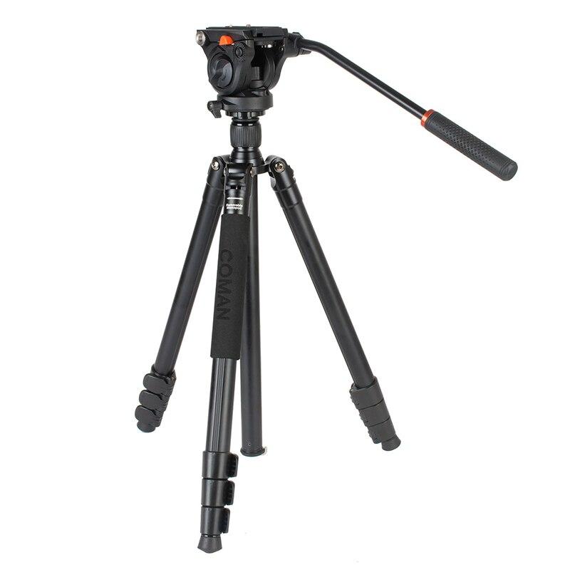 Ulanzi COMAN Professionnel Caméra Vidéo Manfrotto Trépied w 360 Tête Fluide Léger En Aluminium Compact pour Nikon Caméscope Caméra