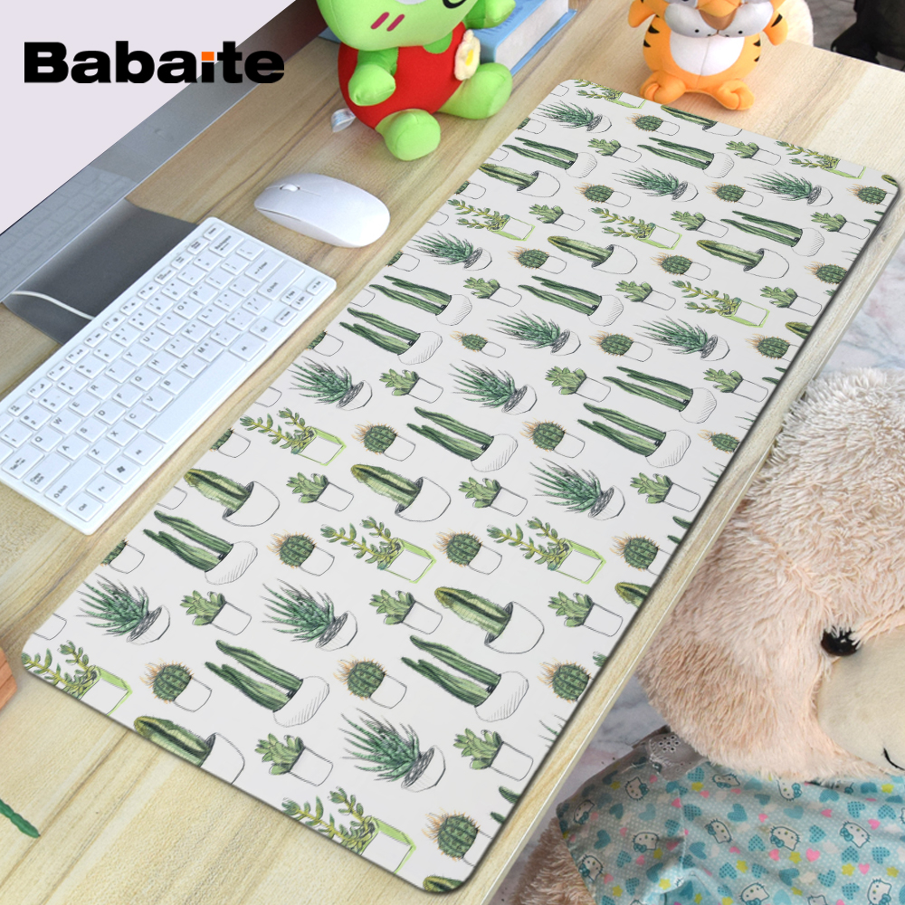 Babaite Super Large Size Optional Mouse Pad Natural Rubber Material Waterproof Desk Mat for Watercolour Cacti and Succulent babaite super large size optional mouse pad natural rubber material waterproof desk mat for 400x900x2mm