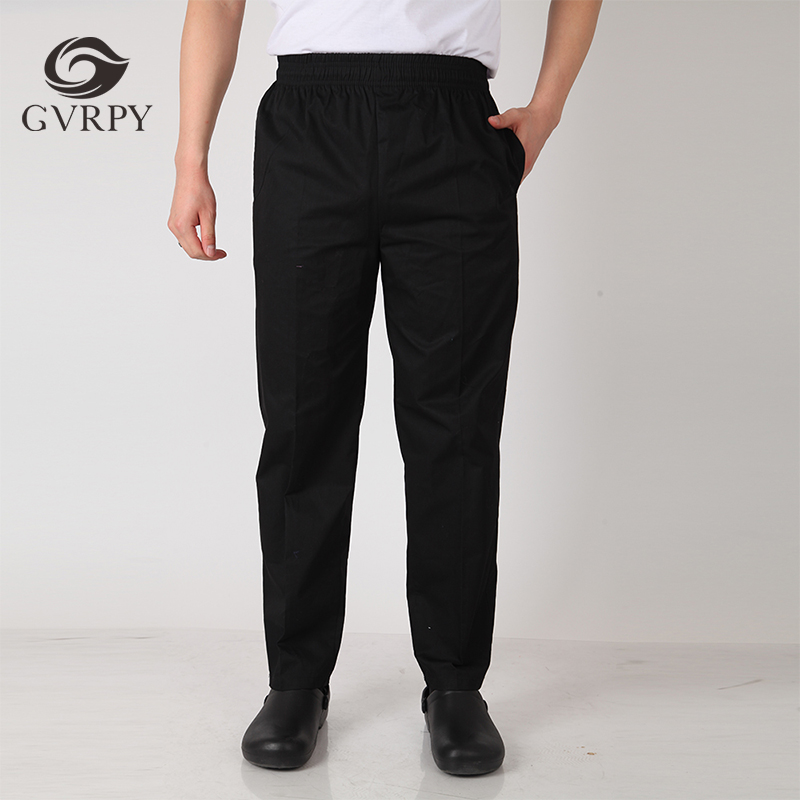 Wholesale Grid Men Food Service Restaurant Kitchen Catering Bakery Cafe Canteen Work Wear Pants Waiter Business Suit Trousers
