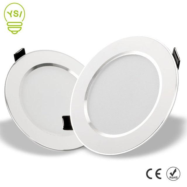 LED Downlight 3 W 5 W 7 W 9 W 12 W 15 W עגול שקוע מנורת 220 V 230 V 240 V Led הנורה חדר שינה מטבח מקורה LED ספוט תאורה