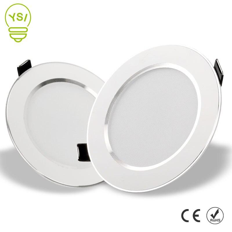 LED Downlight 3W 5W 7W 9W 12W 15W Yuvarlak Gömme Lamba 220V 230V 240V Led Ampul Yatak Odası Mutfak Kapalı LED Spot Aydınlatma