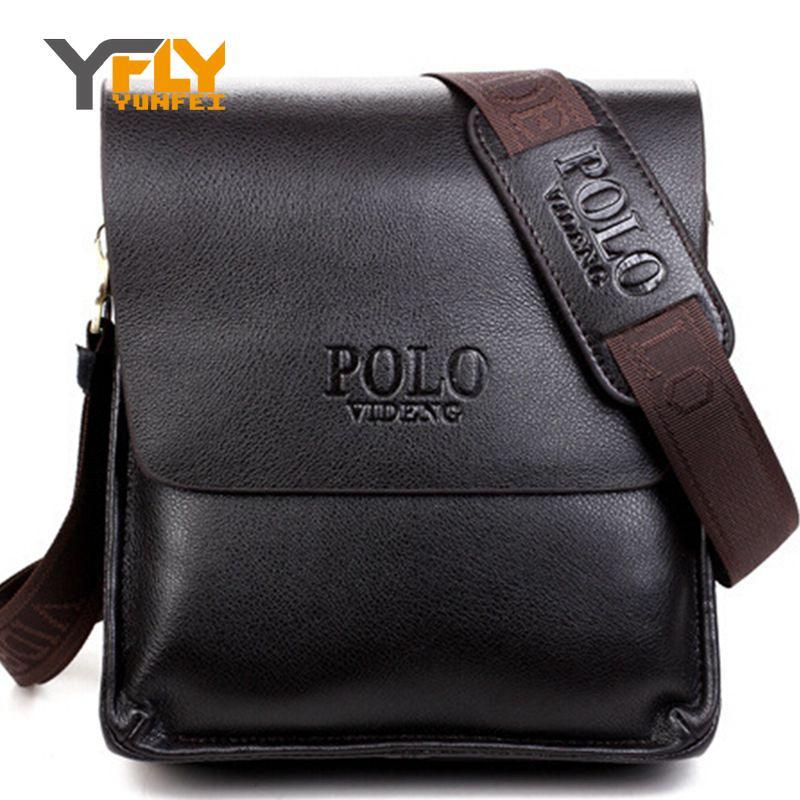 Handbags: Y-FLY Brand Men's PU Leather Bags for Men Fashion Men Messenger Bag Briefcase Bag Male Travel Shoulder Crossbody Bag Bolsa RM008