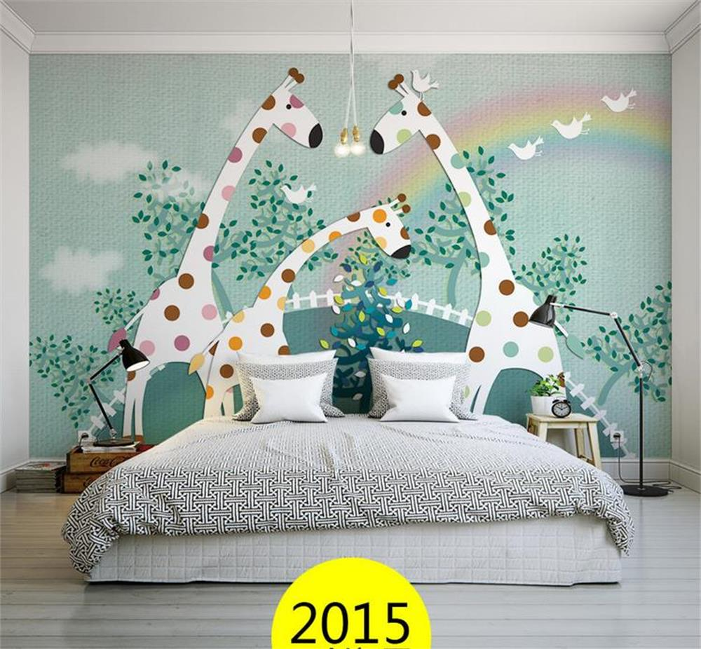 3D Wallpaper/custom Photo Wall Paper/Kids' Room/giraffe