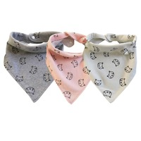 Newborn Bibs High quality Cotton Cute Pig Double sided TriangleTowel Baby Slobber aby Bibs Baby Eating Accessories