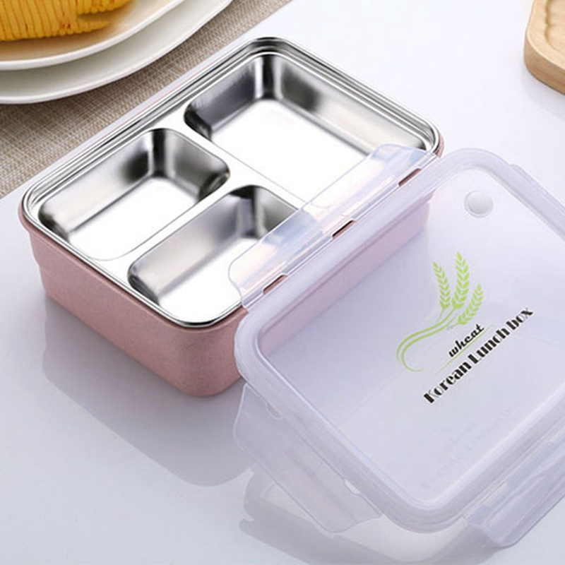 Hot Sale Lunchbox Food Container Bento Microwave Lunchbox Dinnerware <font><b>Sets</b></font> Outdoor Picnic Food Storage Portable Tableware