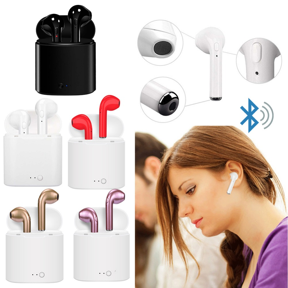 9030560a523 Wireless Headset Bluetooth Earpieces i7S Tws Earbuds Twins Earphone With Charging  box Earphones For iPhone Samsung iphone Smart - Blog Store