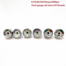 PCP Paintball Pressure Gauge 2pcs 5mpa/10mpa/20mpa/30mpa/40mpa/2000psi/3000psi Mini Micro Manometer M8/M10 Threads